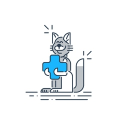 Animal health care veterinary concept vector image