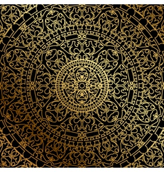 black background oriental ornament vector image vector image