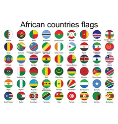 buttons with flags of Africa vector image