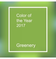 Color of the year 2017 vector image