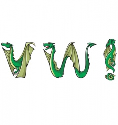 dragons Alphabet vw and vector image vector image