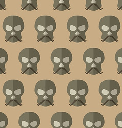 Flat scull with mustache vector image