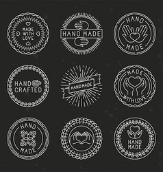 set of linear badges and logo design elements vector image vector image