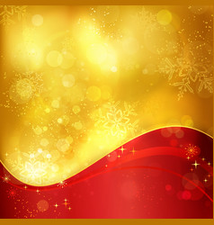 1511013 Gold red Christmas snowflake background vector image