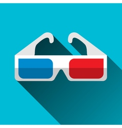 3D glasses flat design vector image