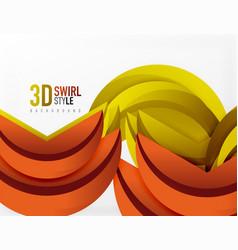 3d wave design vector