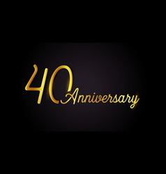40 anniversary logo concept 40th years birthday vector image