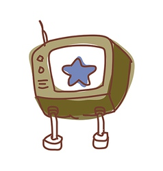 A star on the screen vector image