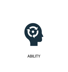 Ability icon simple element vector