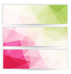 abstract geometric trianglular banners set vector image