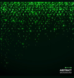 abstract of green the matrix number pattern vector image