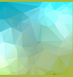 blue green geometric rumpled triangular low poly vector image