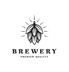 brewing company logo brewing logo vintage brewing vector image