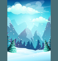 bright the cartoon winter vector image