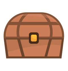 brown chest cartoon vector image