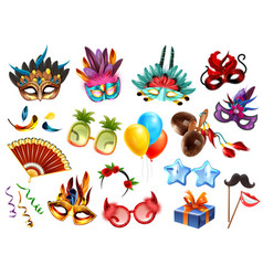 carnival accessories set vector image