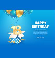 Celebrating 18 th years birthday vector
