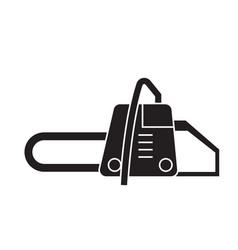 chainsaw black concept icon chainsaw flat vector image