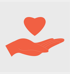 charity love concept vector image