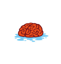 Clean brain water logo vector