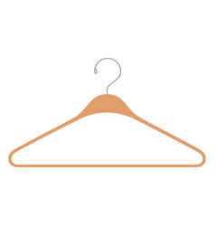 colorful silhouette of clothes hanger icon vector image