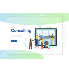 consulting website landing page design vector image
