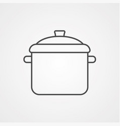 Cooking pot icon sign symbol vector