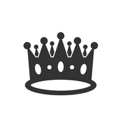 Crown diadem icon in flat style royalty crown on vector