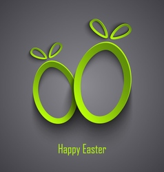 Easter card with abstract design cutouts green vector