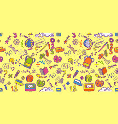 Education supplies seamless pattern vector