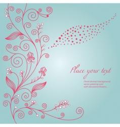 elegant seamless floral pattern vector image vector image