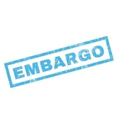 Embargo rubber stamp vector