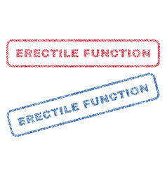Erectile function textile stamps vector
