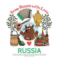 Flat russia travel concept vector