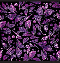 floral violet seamless pattern luxury patterne vector image