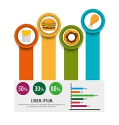 food infographic icons vector image
