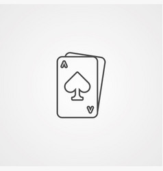 game card icon sign symbol vector image