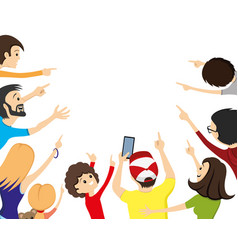 group people looking up vector image