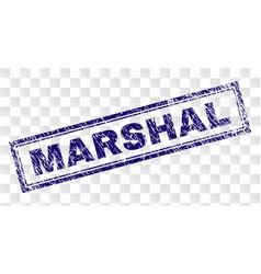 Grunge marshal rectangle stamp vector