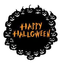 halloween funny horror pumpkin greeting card vector image