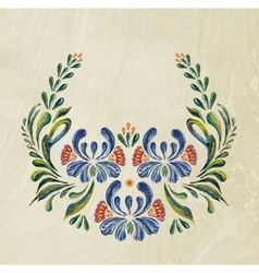 Hand Drawn vintage floral ornament vector image