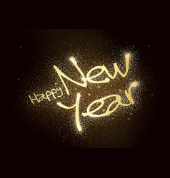 happy new year glitter greeting card vector image