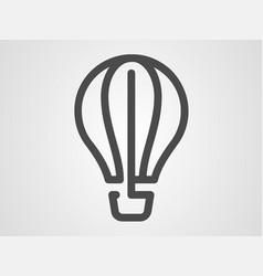 hot air balloon icon sign symbol vector image