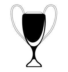 isolated sport tournament trophy vector image