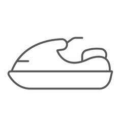 jet ski thin line icon transport and boat water vector image
