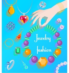 Jewelry fashion poster vector image