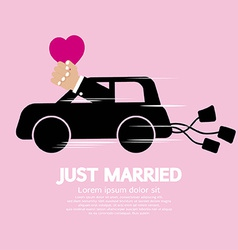 Just married concept vector