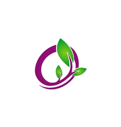 Leaf abstract beauty art logo vector