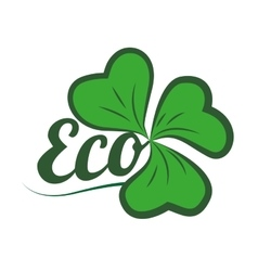 leafs ecology symbol isolated icon vector image