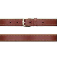 Leather belt with metallic vector